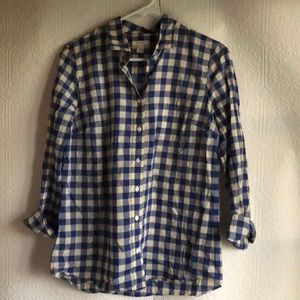 J. Crew Long Sleeve Plaid Shirt